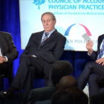 Robert Pearl, MD, William Conway, MD, and David Goldhill at Better Together Health 2015